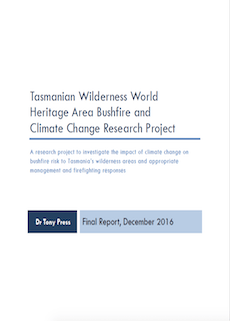 TWWHA Bushfire and Climate Change Research Project report