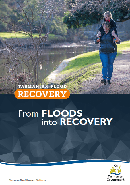 From Floods into Recovery: report of the Flood Action Taskforce, Tasmania