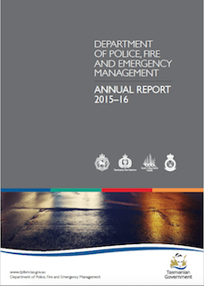 Tasmania Police Annual Report 2015-16