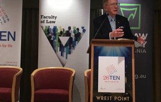 The Hon. Michael Kirby speaks at a breakfast in Hobart about plain English