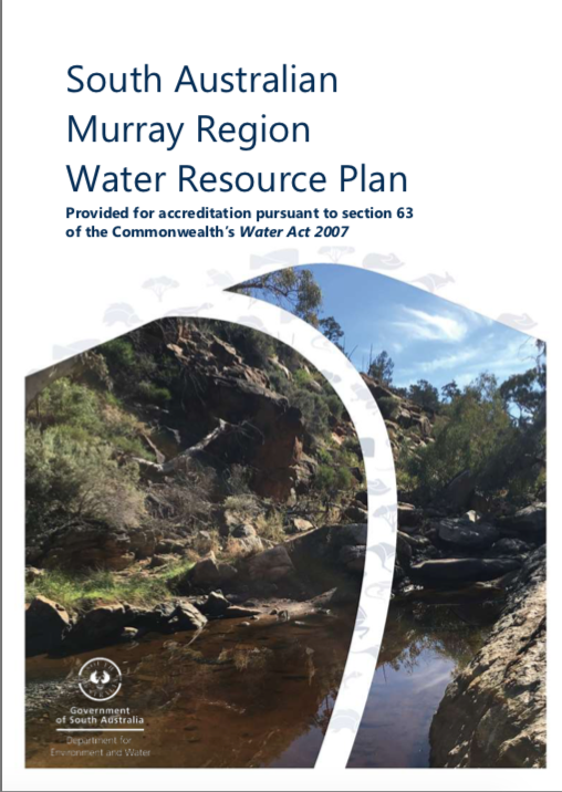 South Australian Murray Region Water Resource Plan. Proofreading by Mel Roome at Hit Send.