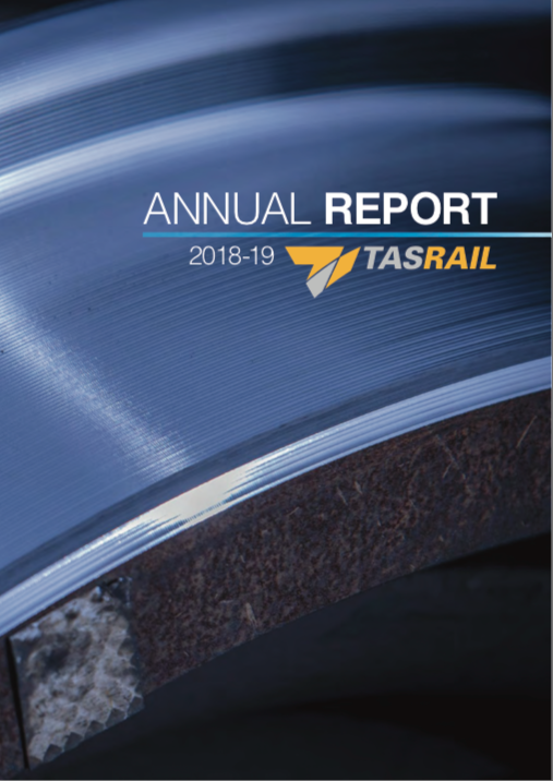 TasRail Annual Report 2018-19 proofread by a Hit Send editor.