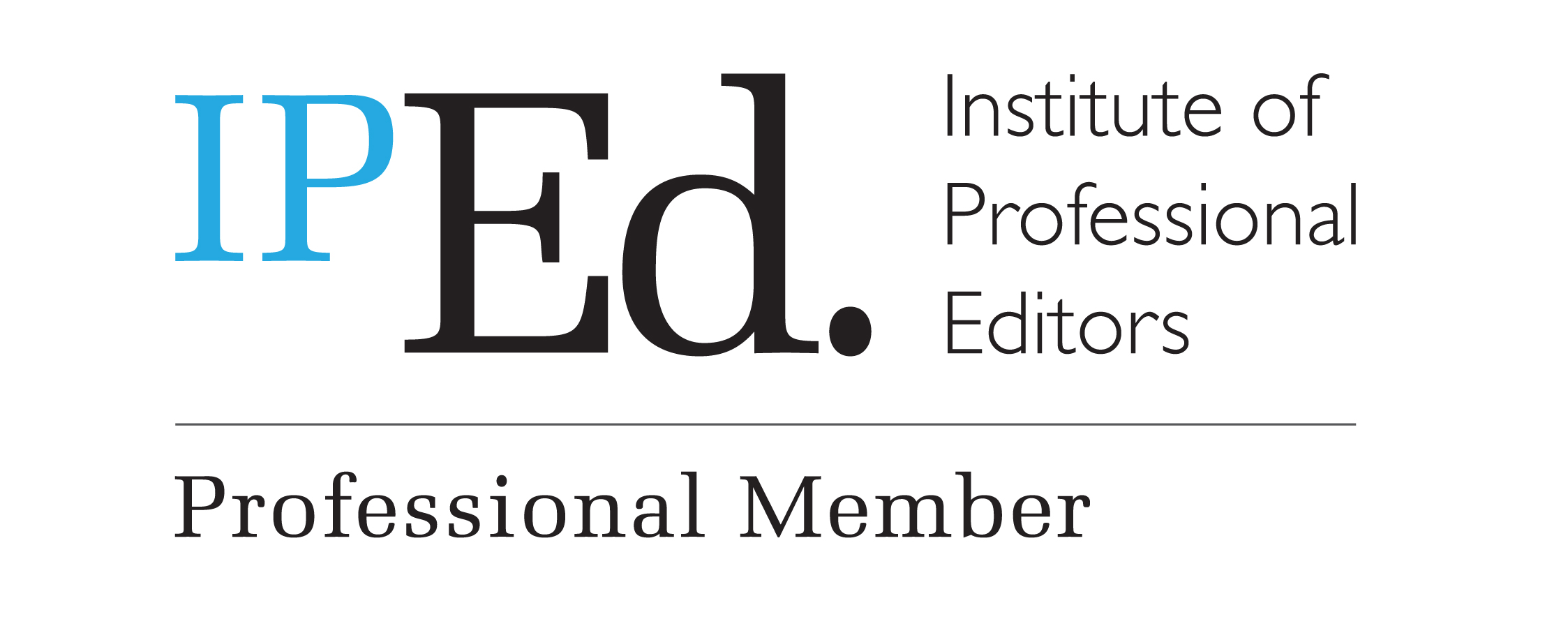 Logo, demonstrates Mel Roome's professional membership of IPED