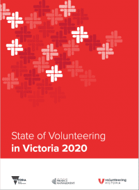 Cover shot of State of Volunteering in Victoria report