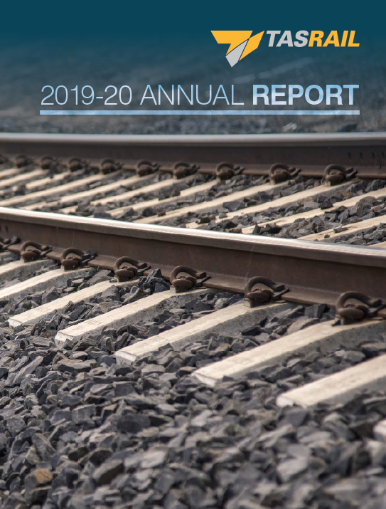 TasRail Annual Report 2019-20 proofread by a Hit Send editor.