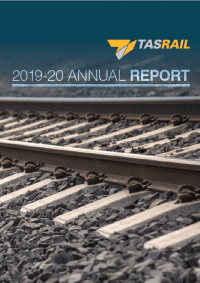 Cover of TasRail Annual Report 2019-20